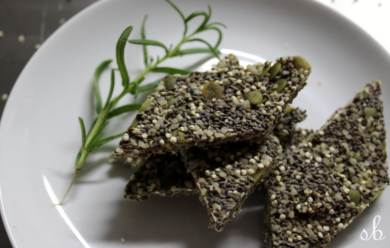 Seed Crackers + Rosemary