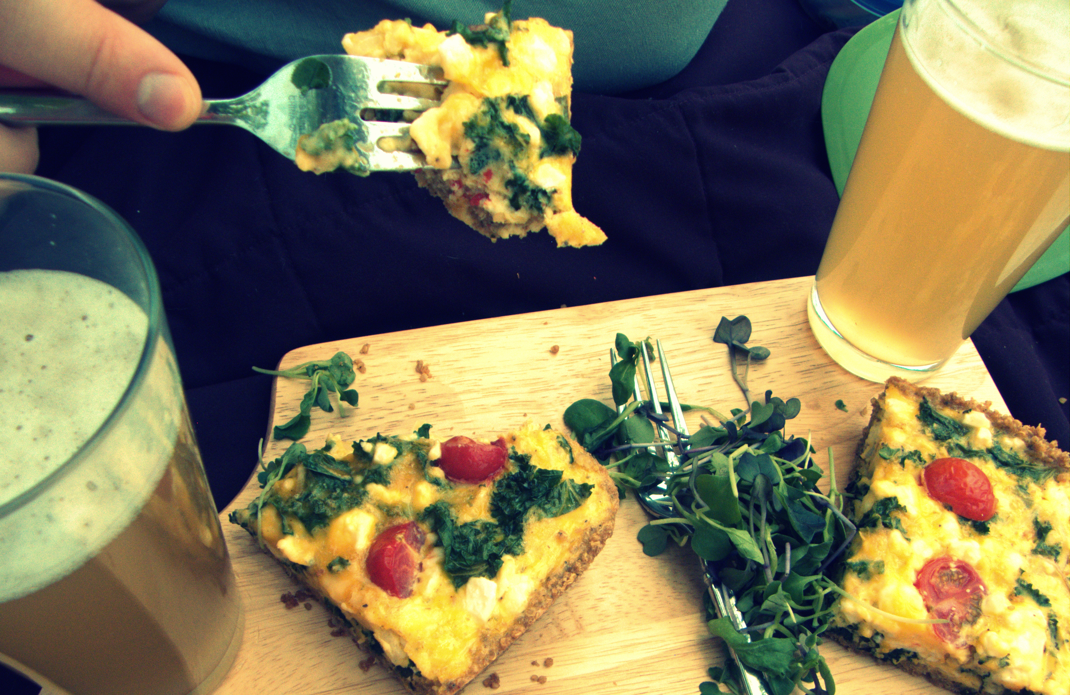 Spring Quiche with a Quinoa Crust