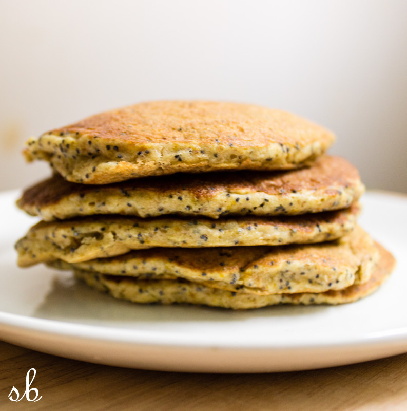 lemon poppy oat cakes