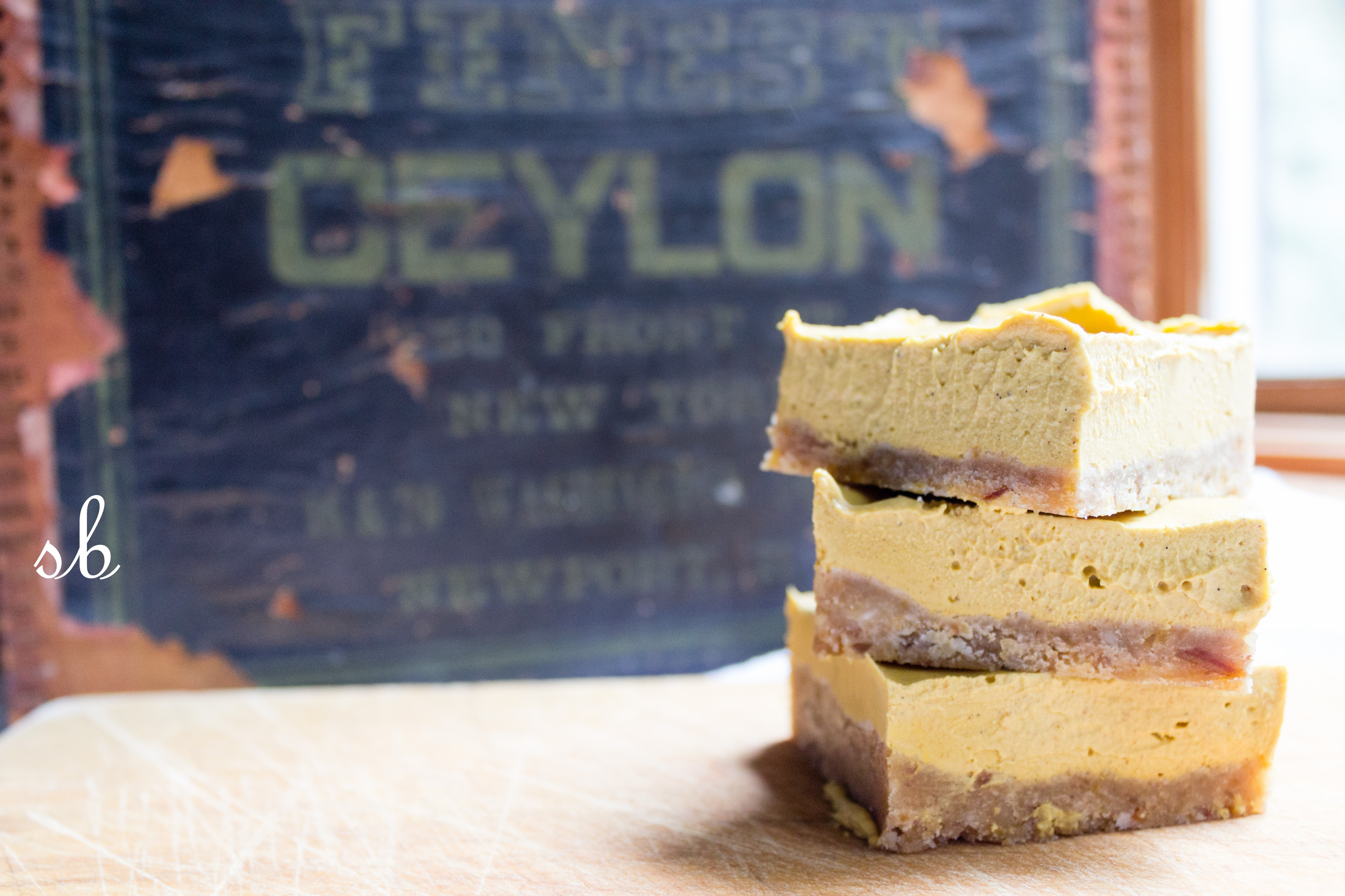 Vegan Pumpkin Cheesecake Squares