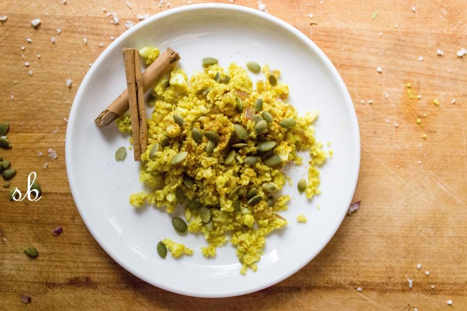 Cauliflower Rice with Turmeric
